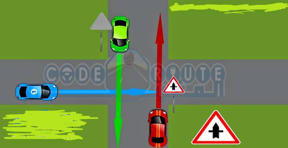 الزمن اللازم لعبور تقاطع عند انطلاق المركبة من وضع التوقف